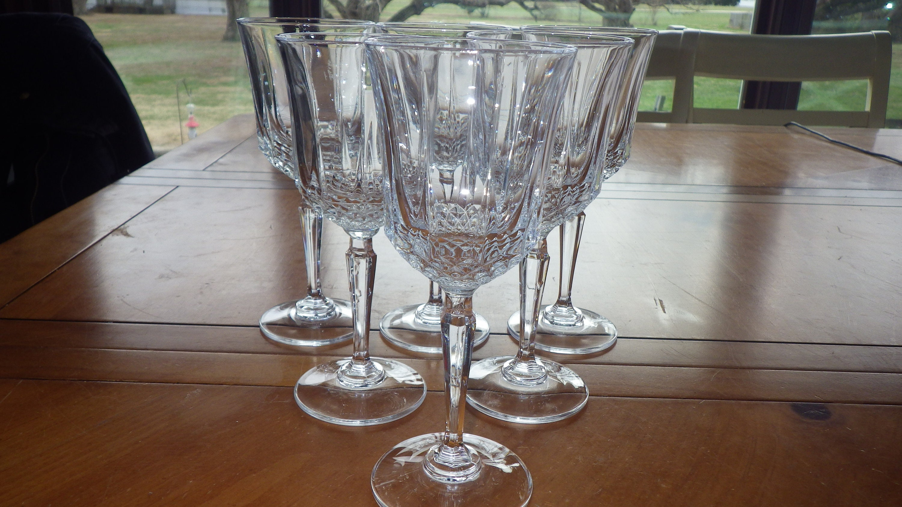 Cristal Darques France.Cut Crystal Wine Glasses Anet By Cristal D Arques France 6 Etsy