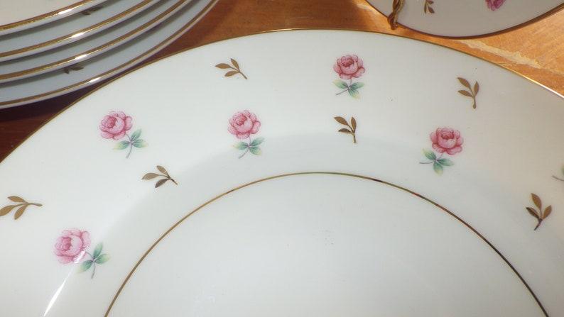 Rim Soup Bowls Rosalie par NORITAKE 8 8 bols dorés parés vers les années 1950