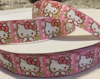 c07f94765 1 inch hello kitty ribbons, hello kitty ribbon, san rio ribbons