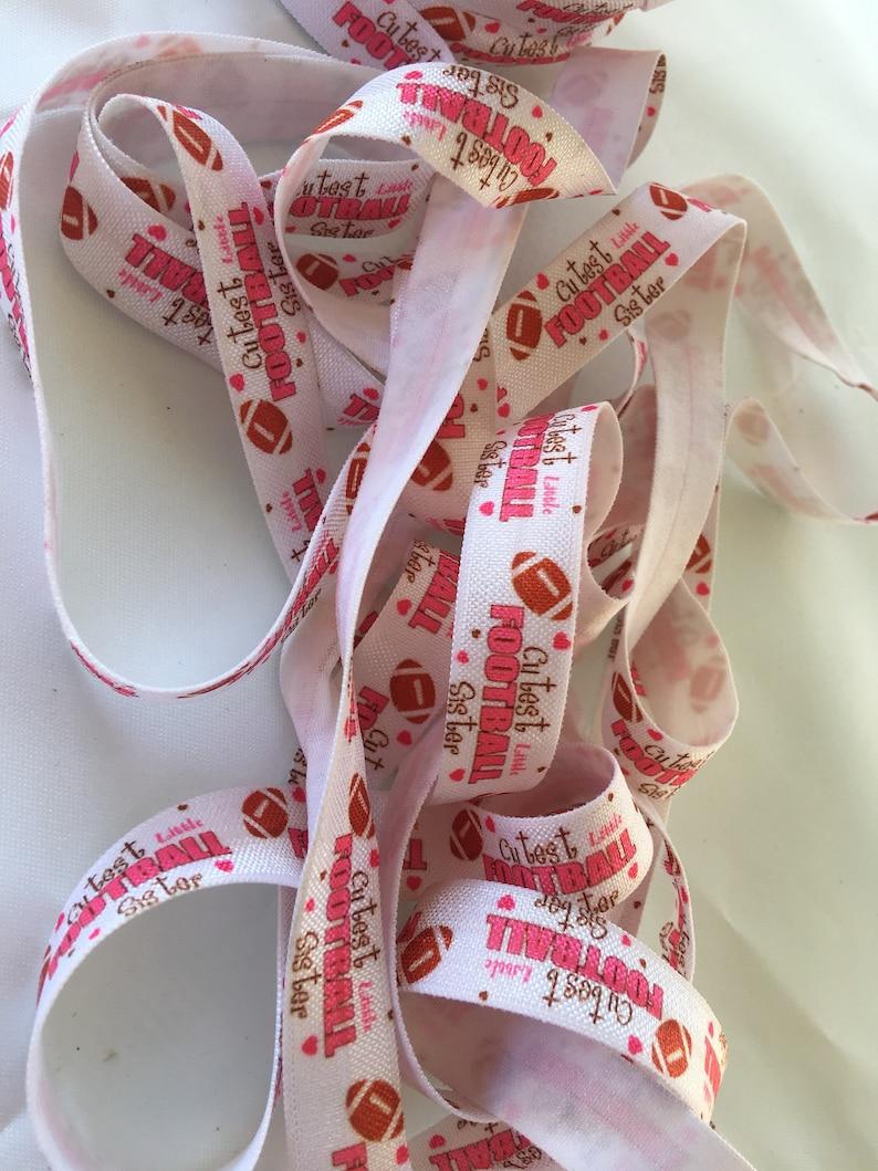 58 pink football foe little sister football foe sister fold over elastic ties football fold over elastic ties football sister foe