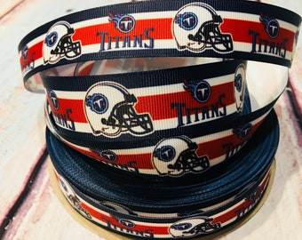 tennessee titans football ribbons, titans ribbons, tennessee titans ribbons, tennessee titans grosgrain ribbons, 1 inch grosgrain ribbons