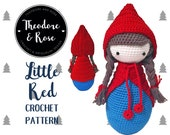 Little Red amigurumi crochet toy skittle doll PDF - PATTERN ONLY in English