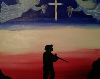 16x20 acrylic painting for our military!