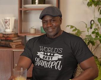 Worlds Best Grandpa Shirt, Gift For Grandpa,  Sizes Small To 5X,