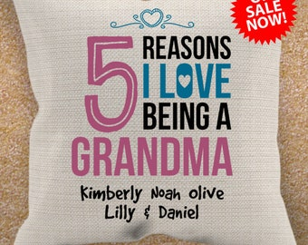 Grandma Pillowcase - Personalized with Grandkid's Number Of Grandkids and Grandma Nickname