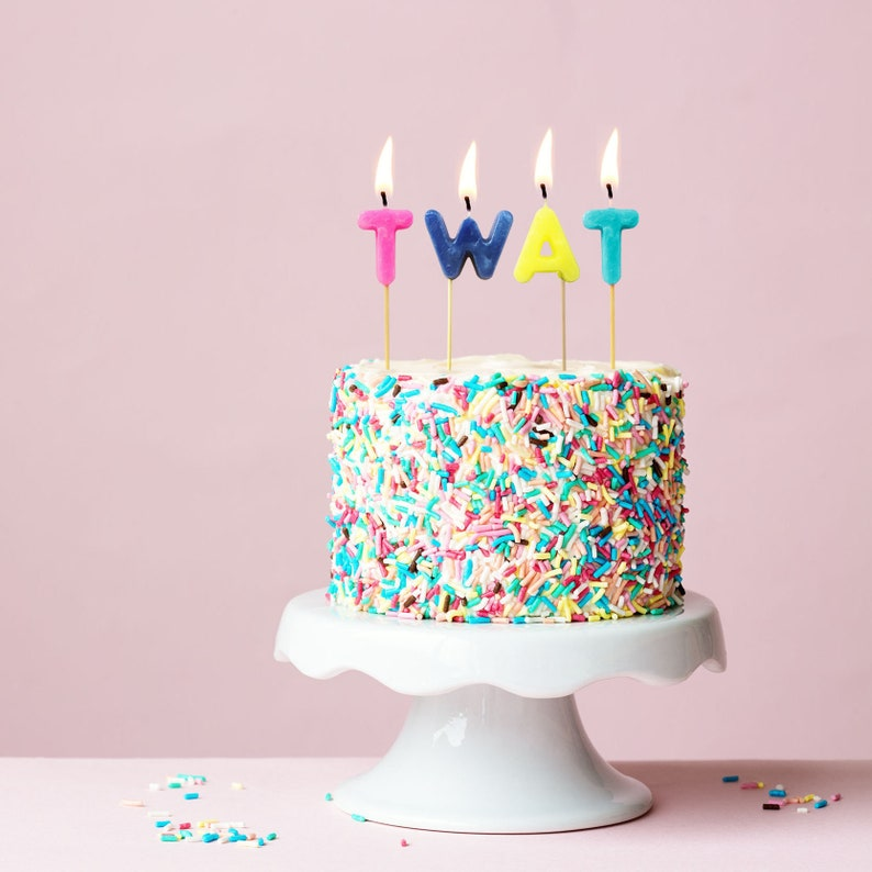 Twat Birthday Candles Letter Funny