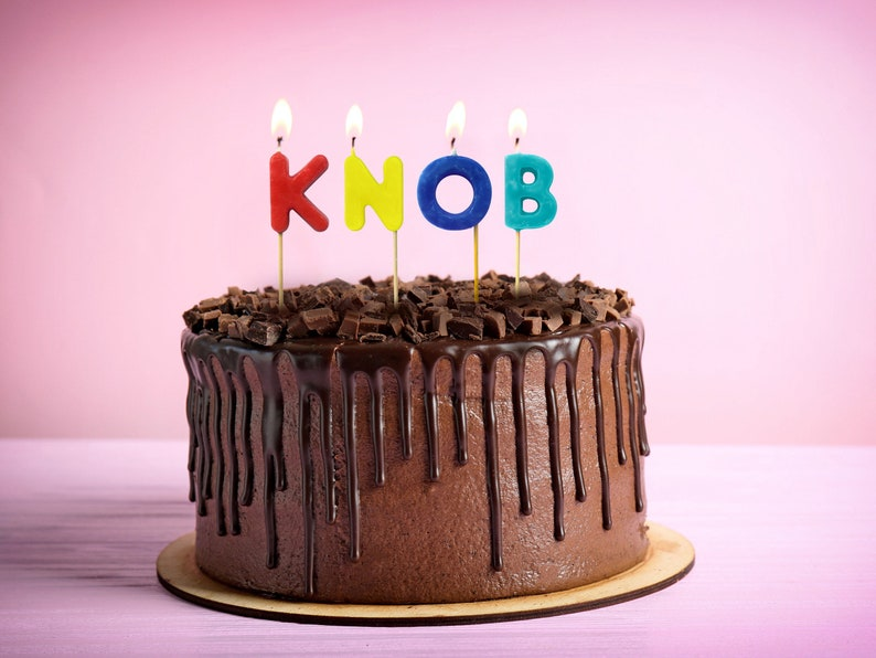 Knob Birthday Candles Funny