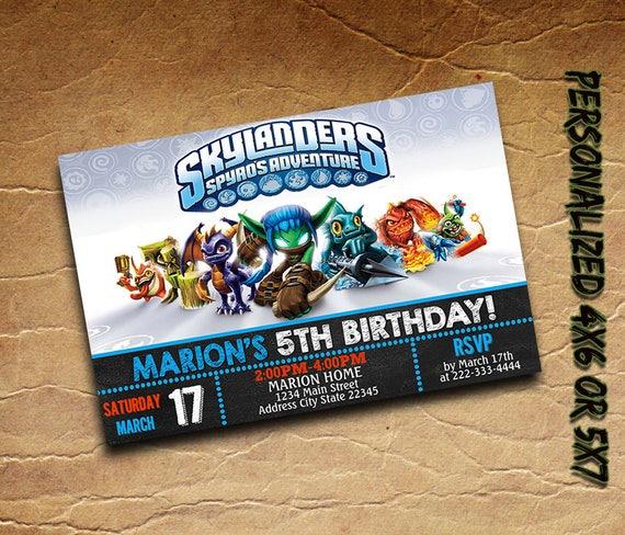 Skylanders Invitation Personalized Printableskylanders Etsy