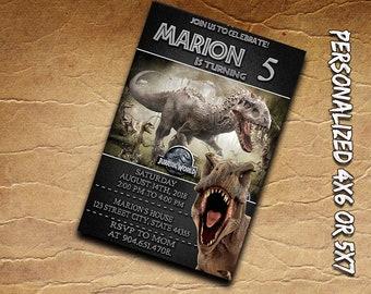 Jurassic World Invitation,Jurassic World Birthday Invitation,Jurassic World Party,Jurassic Park Invitation,Jurassic Invitation,Jurassic