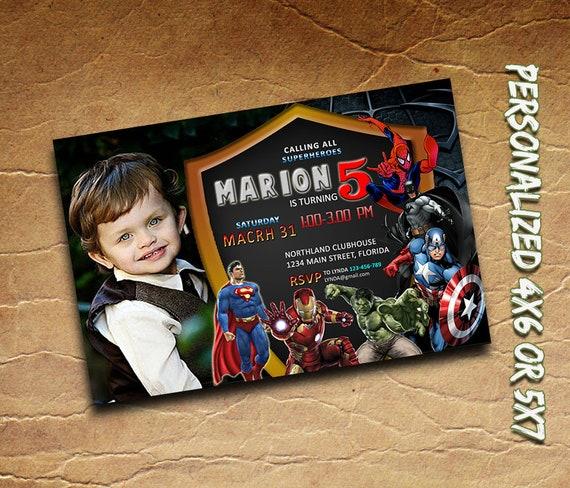 Superhero Invitation Personalized PrintableSuperhero Birthday