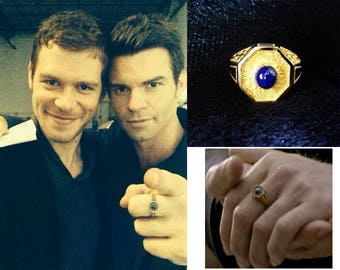 The Originals Klaus 925 sliver ring  Mikaelson Family daynight protect ring