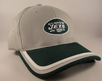 590e53e2d1c53 New York Jets NFL Vintage Strapback Hat Cap Annco Gray Green New With Tags