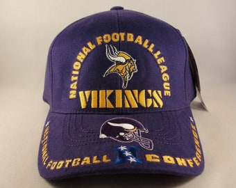 dfa1c8b0394 Minnesota Vikings NFL Vintage NFC Strapback Hat Cap American Needle Purple  new with tags