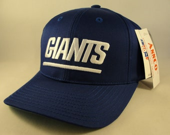 8b374d5cdb7 New York Giants NFL Vintage Snapback Hat Cap Annco Blue New With Tags