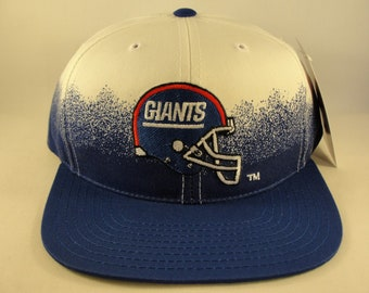 1ddfd218c1a New York Giants NFL Vintage Snapback Hat Cap Annco White Blue Fade New With  Tags