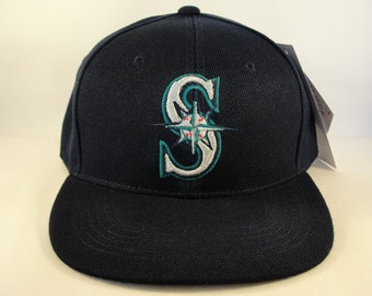finest selection 86004 8d06f Seattle Mariners MLB Vintage Snapback Hat Cap American Needle Navy New With  Tags