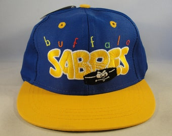 3e95c219c6d Toddler Size NHL Buffalo Sabres Vintage Snapback Hat Cap Logo 7 Blue Gold  new with tags