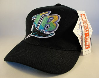 20fc50778a2 Tampa Bay Devil Rays MLB Vintage Snapback Hat Cap American Needle Black new  with tags