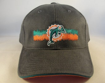 Miami Dolphins NFL Vintage Strapback Hat Cap Annco Gray new with tags f0816207e4a2