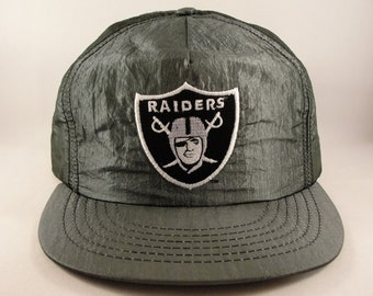 e1017d6ca0e Oakland Raiders NFL Vintage Snapback Hat Cap American Needle Metallic Gray  new with tags