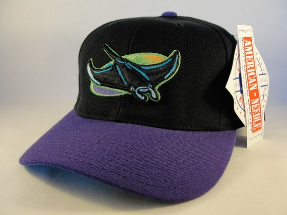 tampa bay devil rays mlb vintage snapback hat cap american etsy tampa bay devil rays mlb vintage snapback hat cap american needle black purple new with tags