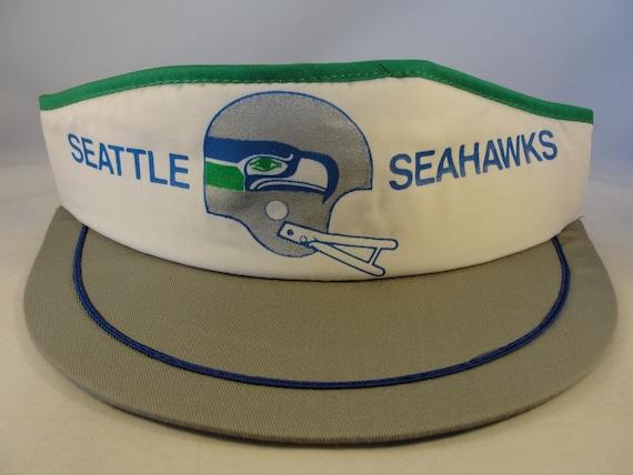 Seattle Seahawks NFL Vintage Snapback Visor Hat Wh