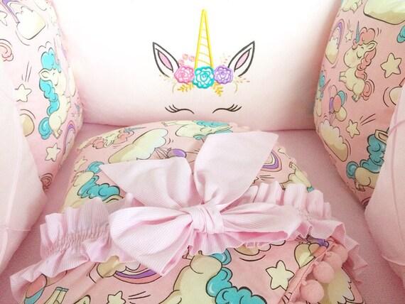 Baby Girl Crib Bedding Set Unicorn Bedding Baby Bedding Set Etsy