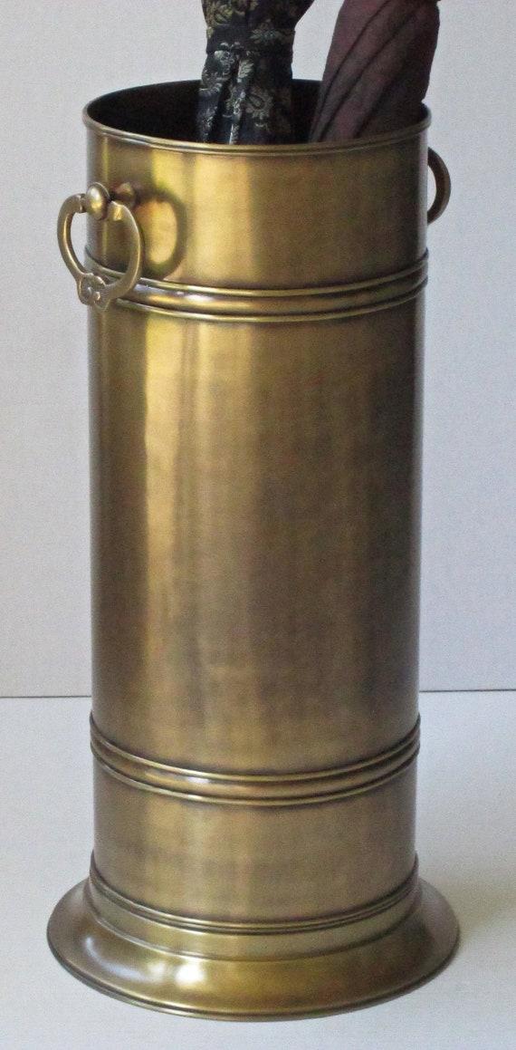 Solid Brass Umbrella Stand Monticello 20 5h X 8w Etsy