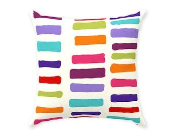 Row Throw Pillow