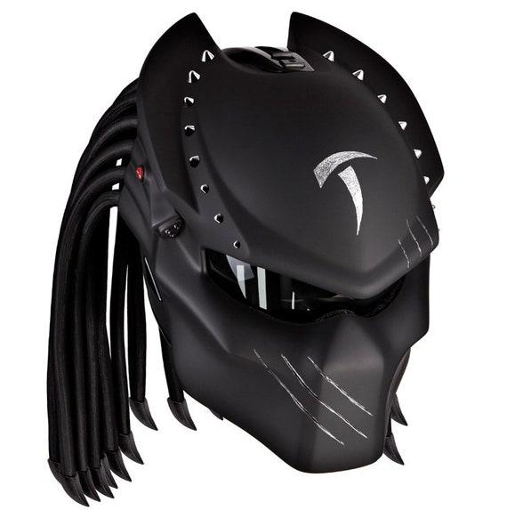 casque de moto custom predator loup 13 etsy. Black Bedroom Furniture Sets. Home Design Ideas