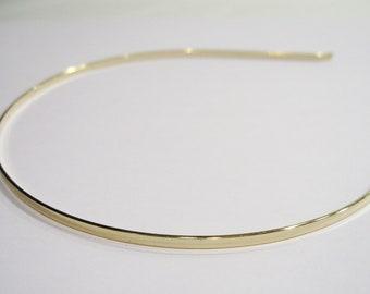 Set of 5 gold metal 3mm headband