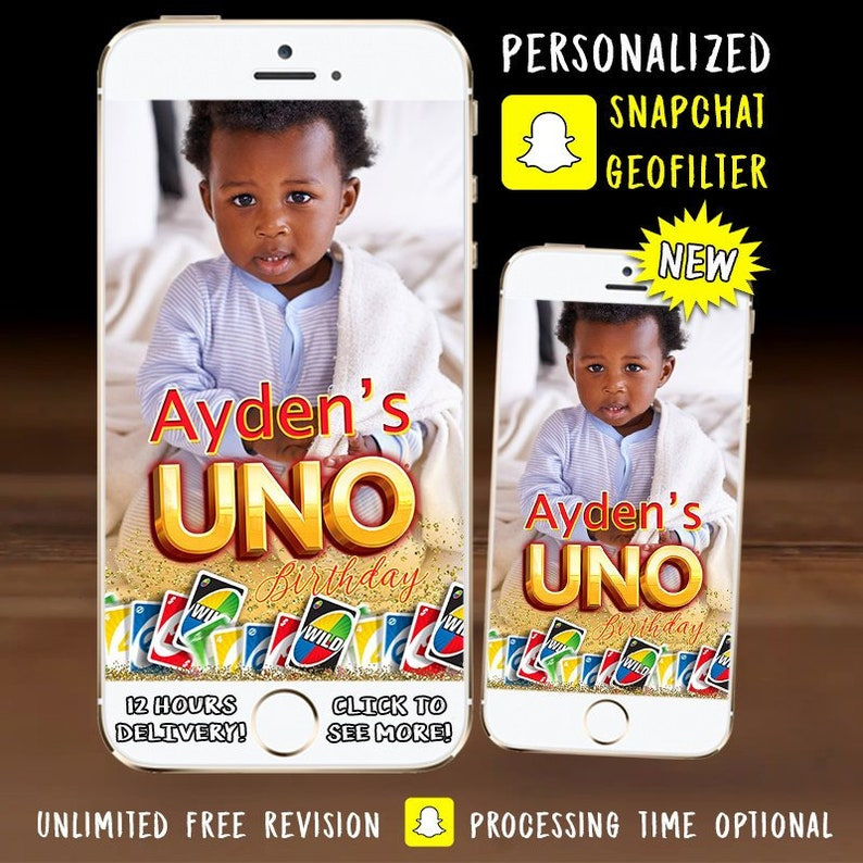 UNO Snapchat Geofilter - UNO Card Game Birthday Party Snapchat Geofilter -  Personalized - Birthday Filter For Phone -Snap Chat - You upload!