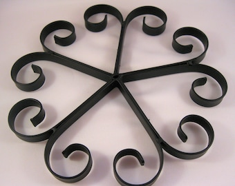 Five Hearts Trivet, Handmade, Kitchen, Cooking, House Warming, Wedding Gift