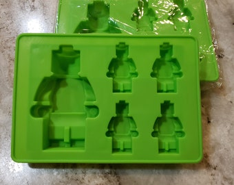 Building Block Man Figures Chocolate Soap or Plaster Mold K170