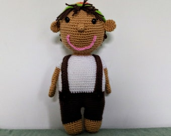 Eric the Little Boy amigurumi crochet pattern PDF