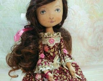 Textile handiwork doll named Mary