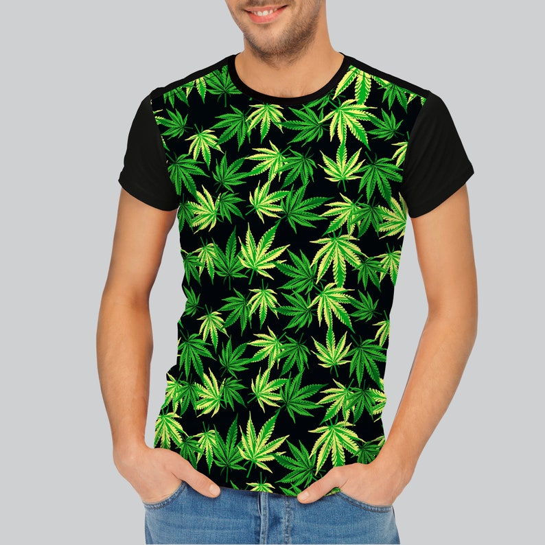 056612e3e3a6b Marijuana Shirt Weed Tee Unisex Sizes Graphic Tee Psychedelic