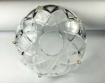 Clear, Crystal Bobeche 4 Inches with 1 Inch Center Hole -Asfour Crystal, Chandelier Parts Cup