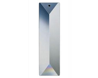 Clear, Chandelier Part, Crystals, Sun Catcher Crystal, 100 mm Rectangular Crystal #611 - 1 Hole - 1 Piece