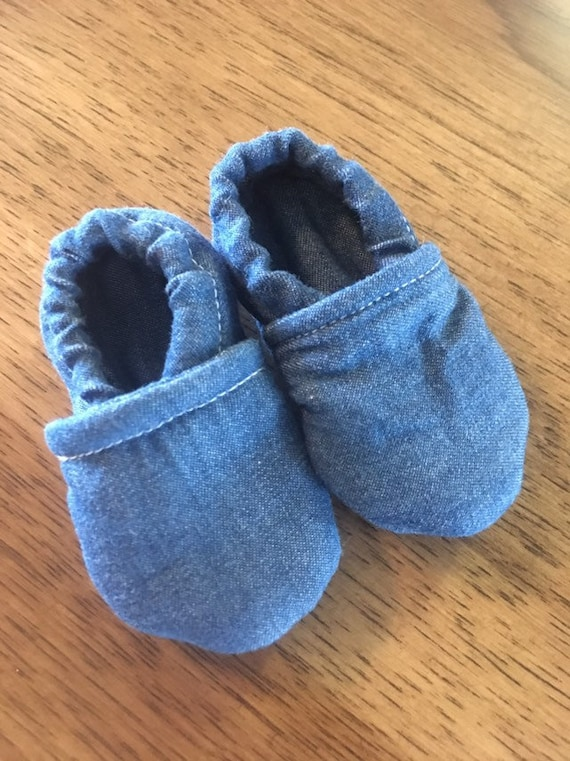 Girl or boy denim baby shoes size