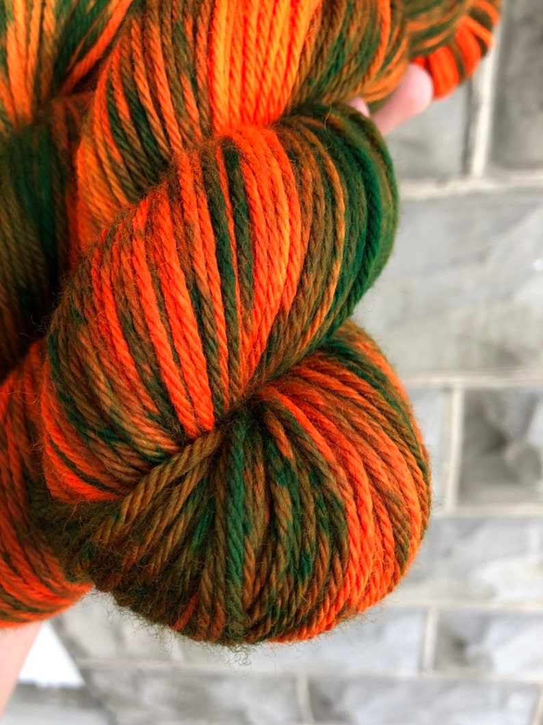 Got Your Camo On Super Sheepy Worsted  Variegated Yarn  Kettle dyed Yarn