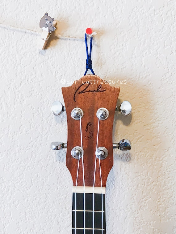 ukulele hanger ukulele wall mount uke hook wall hook for etsy. Black Bedroom Furniture Sets. Home Design Ideas
