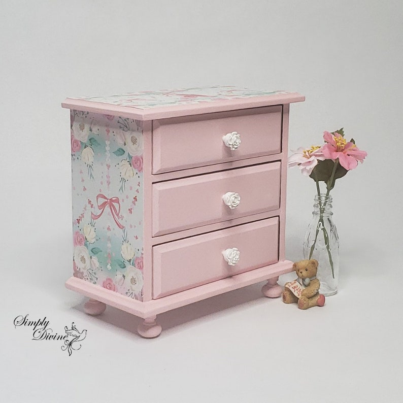Girls Trinket Keeper Christmas Gift Daughter Granddaughter Pink Ballerina Musical Jewelry Box