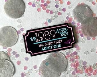 1989 Tour Ticket Enamel Pin