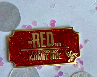 Red Ticket Enamel Pin