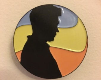SECONDS On the Loose Sunset Enamel Pin