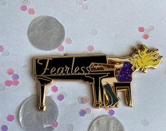 Fearless Piano Enamel Pin