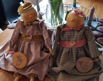 Morag and Agnes Chirpy Chick Dolls (sold individually)