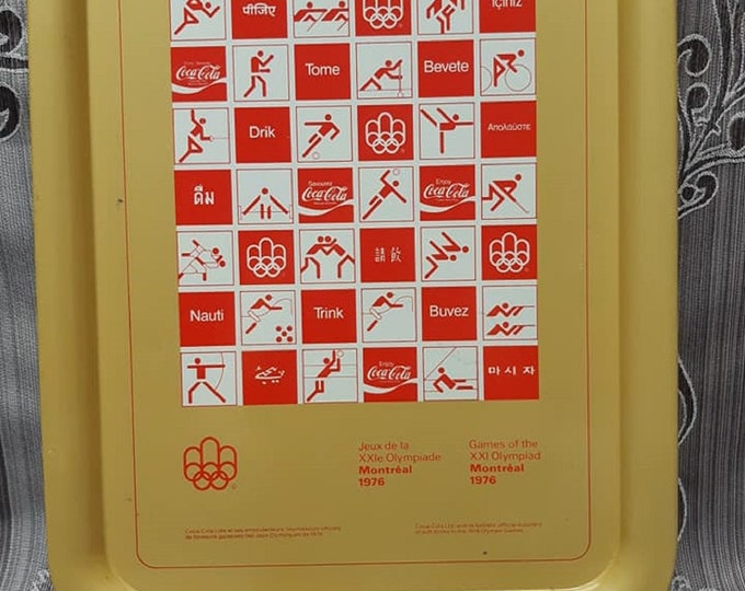 Coca-Cola Vintage 1976 Olympic serving tray