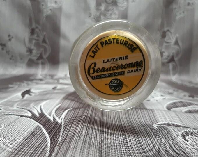 Vintage milk bottle / / dairy Beauceronne Dairy Company / / 1940s-1950s